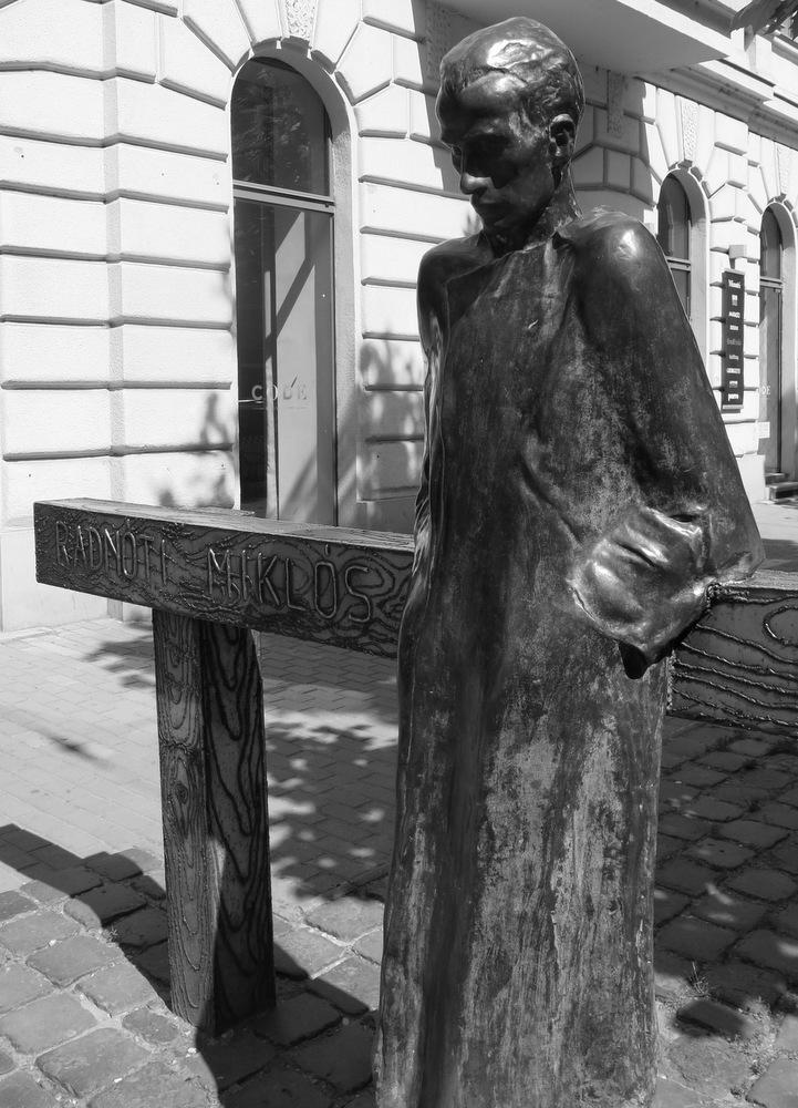 Miklos Radnoti Poems Statue of Mikl s Radn ti by Imre Varga 2009 in Nagymez Street