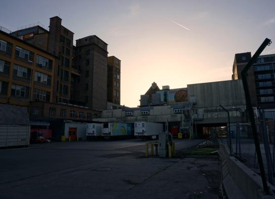 Industrial backyard